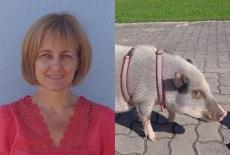 Julia Prinke & Minischwein Idefix